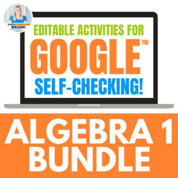 Algebra 1 Activities for Google Drive BUNDLE