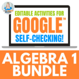 Algebra 1 Digital Activities for Google Drive™ BUNDLE