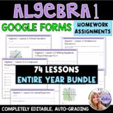 Algebra 1 Google Forms Homework / Practice Assignments