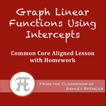 Graph Linear Functions Using Intercepts (Lesson Plan with