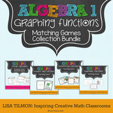 Algebra 1: Graphing Functions Matching Games Bundle