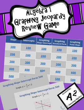 Algebra 1 - Graphing Jeopardy Review Game