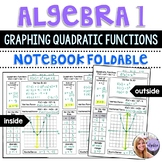 Algebra 1 - Graphing Quadratic Functions, Axis of Symmetry, Vertex - Foldable