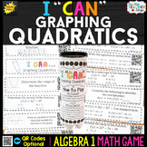 Algebra 1 Graphing Quadratics and Key Characteristics - Algebra 1 Math Game