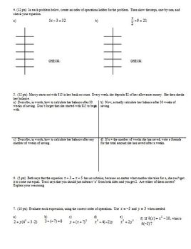 Algebra 1 Group Practice Test Expressions Functions and Equations Fall 2010