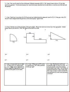 Algebra 1 Group Practice Test Preparing for Algebra