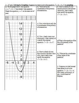 Algebra 1 Group/Practice Test: Quadratics and Polynomials Spring 2013 (Editable)