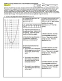 Algebra 1 Group/Practice Test: Transformations and Radicals Spring 2013-Editable