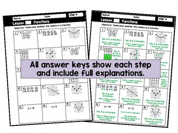 Algebra 1 - Homework / Practice / Review - Expressions, Equations, and Functions