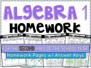 Algebra 1 Homework & Worksheets | Teachers Pay Teachers
