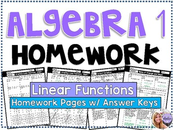 Algebra 1 - Homework / Practice / Review Problems - Linear Functions