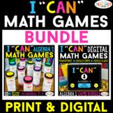 Algebra 1 I CAN Math Games | DIGITAL & PRINT Bundle