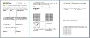 Algebra 1 Individual Test Equations Relations and Graphs Fall 2013 two versions