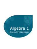 Algebra 1 Interactive Notebook 1 year Curriculum