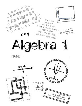 Algebra 1 Interactive Notebook Cover