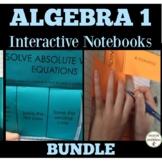 Algebra 1 Interactive Notebook Graphic Organizers for Algebra 1 Curriculum