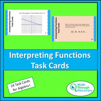 Algebra 1:  Interpreting Functions Task Cards