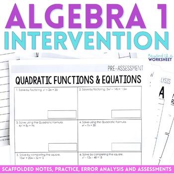 Algebra 1 Intervention Program