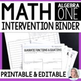 Algebra 1 Intervention Program