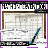 Algebra 1 Intervention Program : Exponential Functions Unit