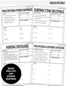Algebra 1 Intervention Program : Rational Numbers Review Unit