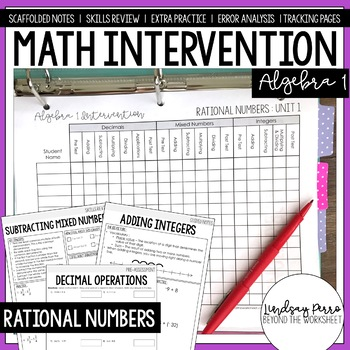 Algebra 1 Intervention Worksheets & Teaching Resources | TpT