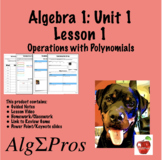Algebra 1. Introduction to Polynomials (with video of lesson)