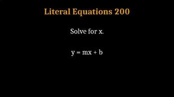 Algebra 1 Jeopardy
