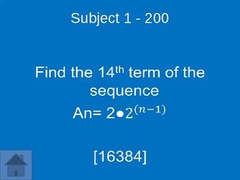 Algebra 1 Jeopardy Midterm Review