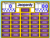 Algebra 1 Jeopardy Review
