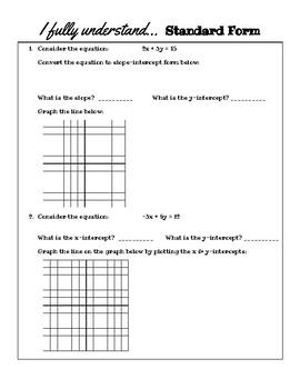 Algebra 1 - Linear Equations Formative Assessment Bundle