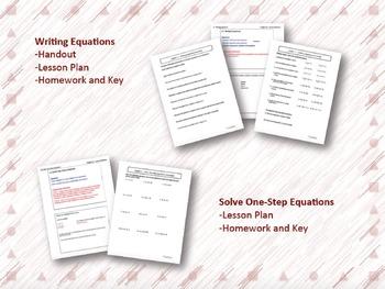 Linear Equations Lesson Plan Bundle