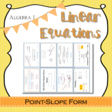 Linear Equations guided notes point-slope form with exit t