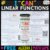 Algebra 1 Linear Functions Game Algebra 1 Review Game FREE