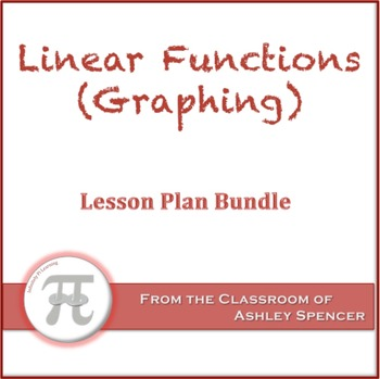 Linear Functions (Graphing) Lesson Plan Bundle