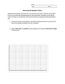 Algebra 1 - Linear Relationships Introduction #3 - Word Problem