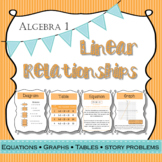 Algebra Linear Equations Graphs Tables and Story Problems