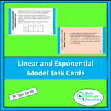 Linear and Exponential Model Task Cards