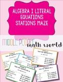 Algebra 1 Literal Equations Stations Maze