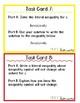Algebra 1 Literal Inequalities Test Prep Task Cards