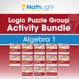 Algebra 1 Logic Puzzle Group Activity Mega Bundle!