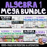 Algebra 1 - MEGA Bundle - Foldables, Activites, Anchor Charts, HW, Assessments