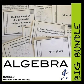 Algebra 1 Task Card Activity -  BIG BUNDLE to SAVE