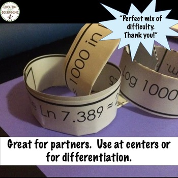 Algebra 1 Math Activity Paper Chains Bundled for savings all year long