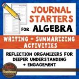 Algebra 1 Math Journal Starters: Writing/Summarizing Graph