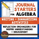 Algebra 1 Math Journal Starters: Writing/Summarizing Graph