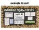 Algebra 1 - Math Posters for Focus Word Wall Bulletin Board - Entire Year