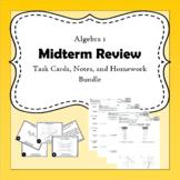 Algebra 1 Midterm Review Bundle