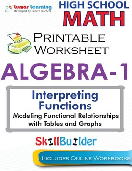Algebra 1  Modeling Functional Relationships with Tables and Graphs