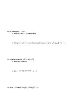 Algebra 1 Module 1 Lesson 10-18